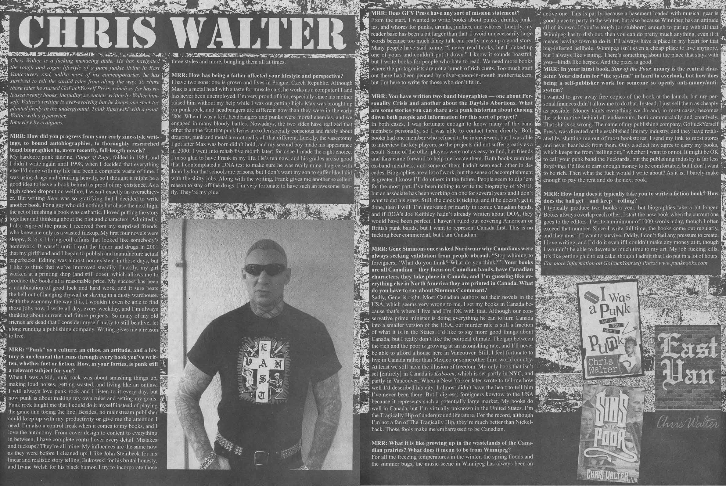 MRR Chris Walter Interview - Spring 2011