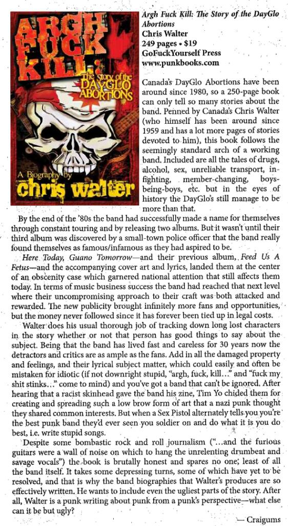 MRR Dayglo book review - Nov 2010
